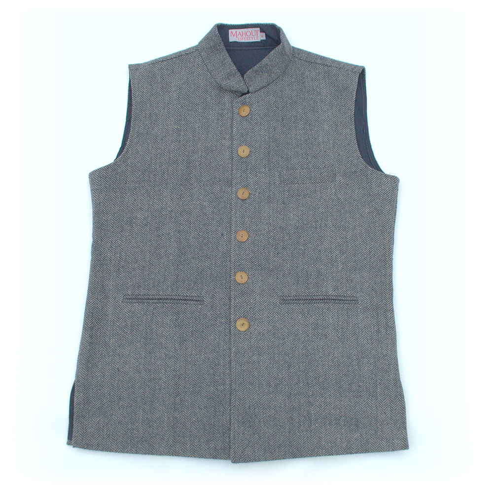 navy_blue_beige_herringbone_tweed_jerkin_gilet_