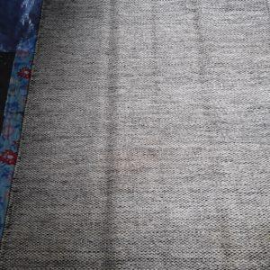 KHAMBAL- Beige/Grey  100% wool Dhurrie (rug)