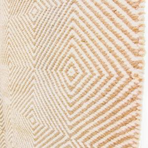 HEERA – Light brown/sandy 100% wool Dhurrie (rug)